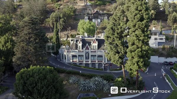 Hollywood's Magic Castle Academy of Magical Arts California Drone View