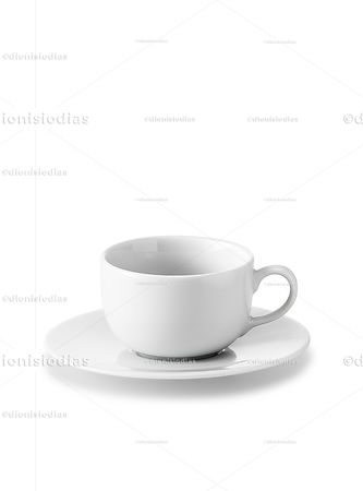 Cup with saucer of insulated dinnerware 05 with path.