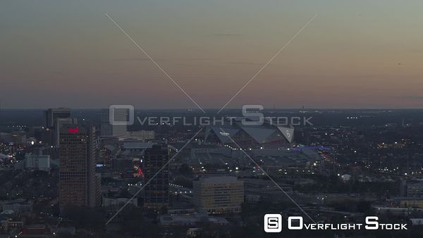 Atlanta Scenic downtown cityscape at dusk