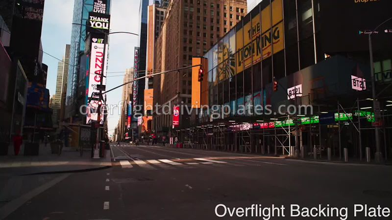 Broadway Deserted Streets During Covid-19 Pandemic Time Square Manhattan New York New York USA - BackingPlate Apr 27, 2020