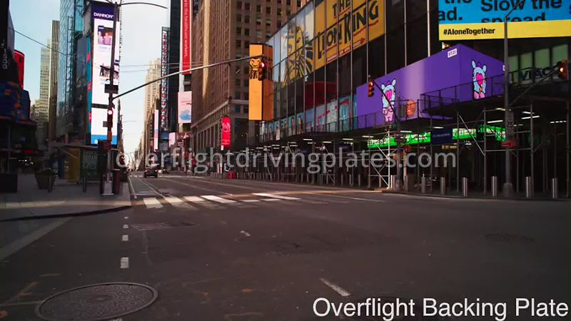 45th and Broadway Deserted Streets  During Covid-19 Pandemic Time Square Manhattan New York New York USA - BackingPlate Apr 2...