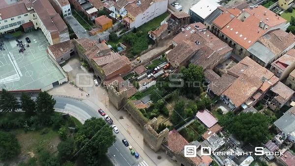 Town of Santo Domingo Calzada  Spain Drone Video View