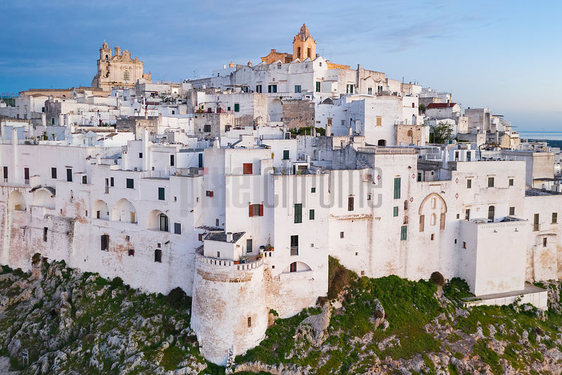 Elevated View of the Old Town of Ostuni at Dawn