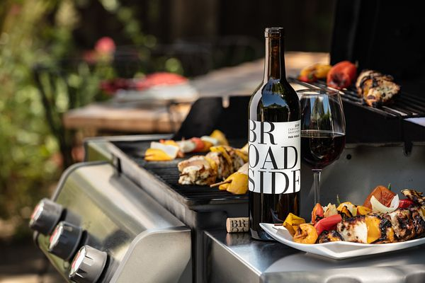 Fire up the grill! Marketing campaign for Broadside Wines, Paso Robles, California. Wine and food photography by Jason Tinacci