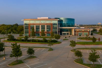 Hero Drone Shot of Collin College