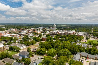 Downtown Mckinney Drone Photo