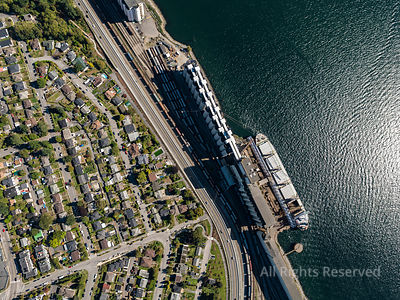 Grain Shipping Terminal North Vancouver
