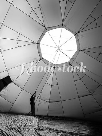 Man Holding Hot Air Balloon in Providence, RI