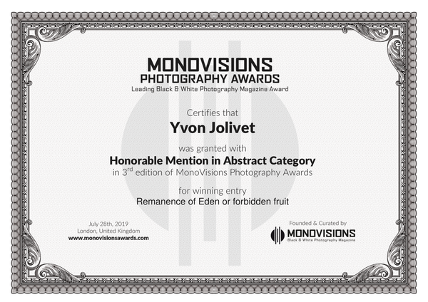 Monovision  - Mention honorifique