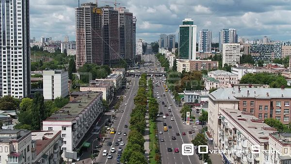Hero City Monument Kiev Ukraine Drone Video