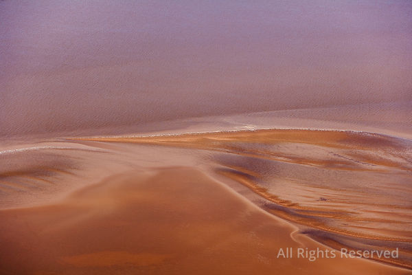 Abstract Tidal Sand Patterns Guyana