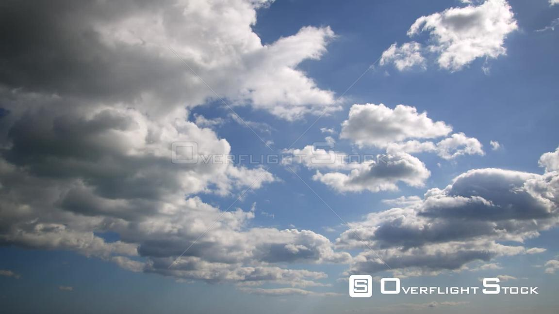 Timelapse footage of Cumulus Clouds Forming