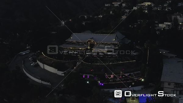 Yamashiro Hollywood Restaurant California Drone View