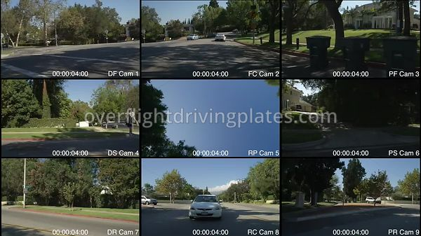 Affluent Neighbourhood  Pasadena California USA - Driving Plate Preview 2012