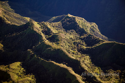 Mountains in the Mahina Environment Tropical Islands of French Polynesia