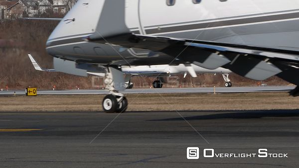 Business Jet Taxiing and on Hold Teterboro Airport