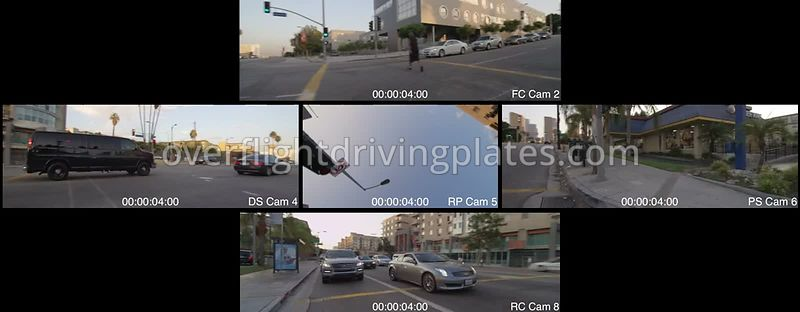 Downtown Grand Avenue  Los Angeles California USA - Driving Plate Preview 2012