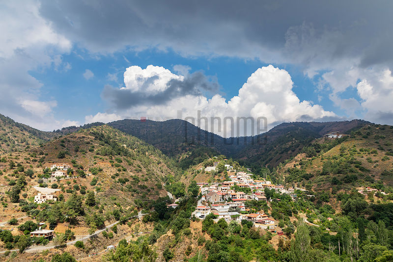 Storm Clouds over the Troodos Mountain Village of Kalopanagiotis