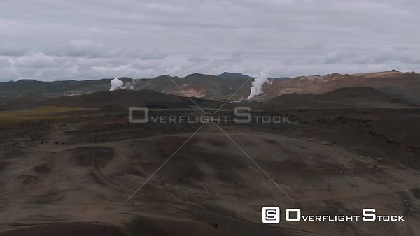 Geothermal Plants in a Volcanic Area in North Iceland
