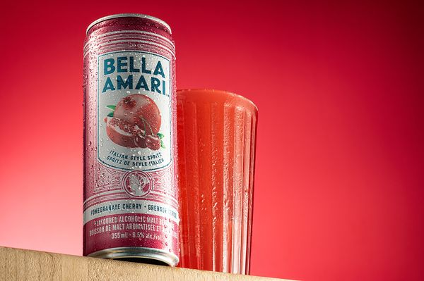 Montreal food Photographer, Bella Amari Pomegranate and Cherry Drink