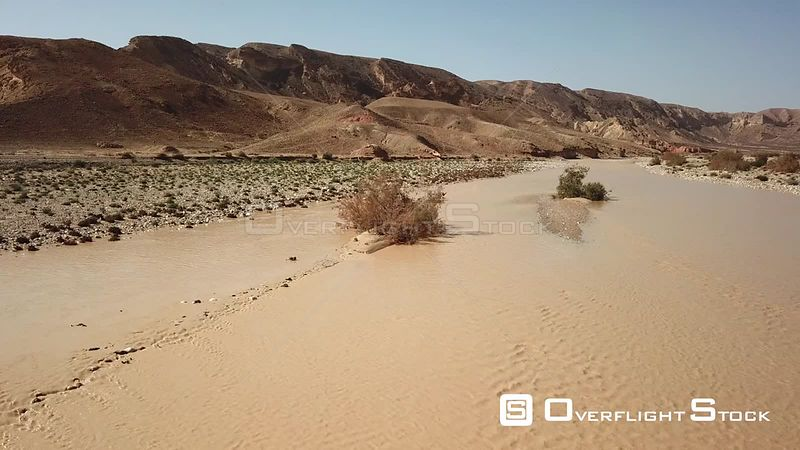 Flash Flood in Negev desert, Wadi Paran Israel