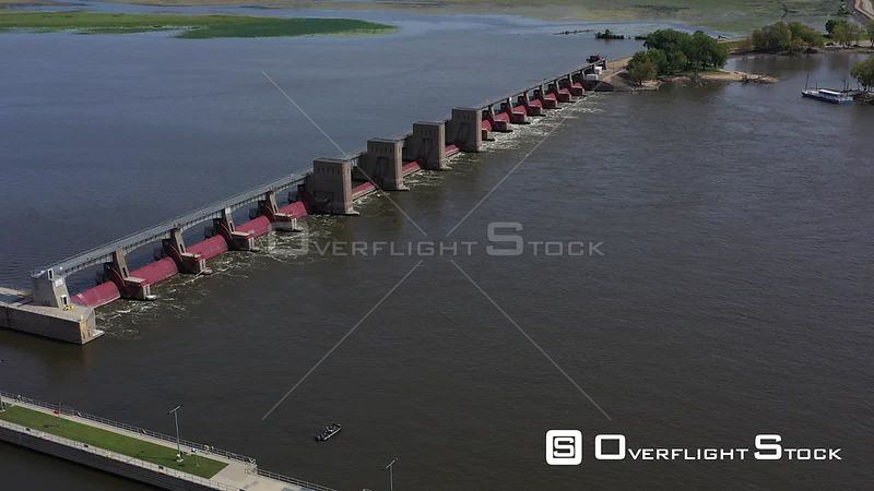 Lock and Dam #11, Mississippi River, Dubuque, Iowa, USA