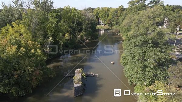 Honeoye Falls New York Drone View