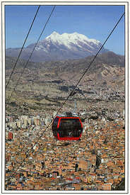 #299 Red line cable car and Mt Illimani, La Paz