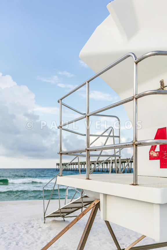 Lifeguard Tower 4 Pensacola Beach Florida Photo