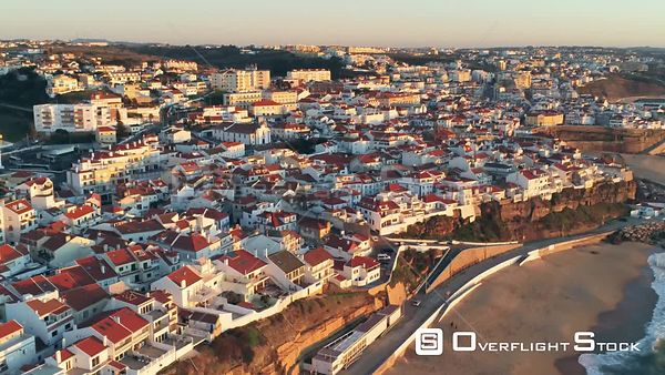 Town of Ericeira Portugal Drone Video View