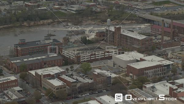 Georgia Columbus Birdseye Downtown Phenix City Cityscape