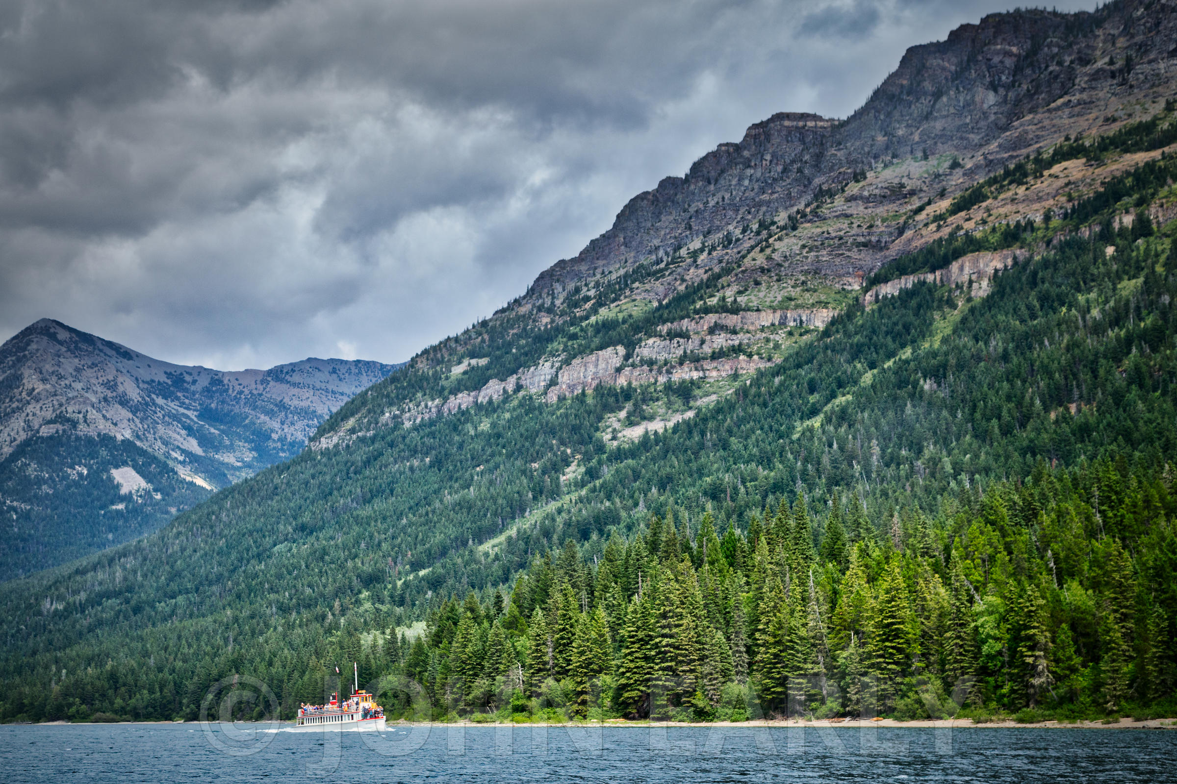 Ferry boat on Waterton Lake.