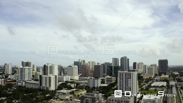 Sky Over Downtown Fort Lauderdale Fl Shot With Drone 4k