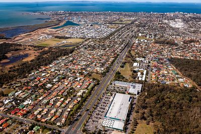 Aerial view of Kippa-Ring including Redcliffe in Queensland Austraia.