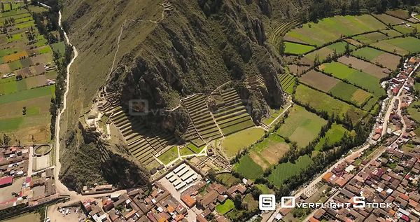 Village of Ollantaytambo Peru in Sacred Valley on the Urubamba River