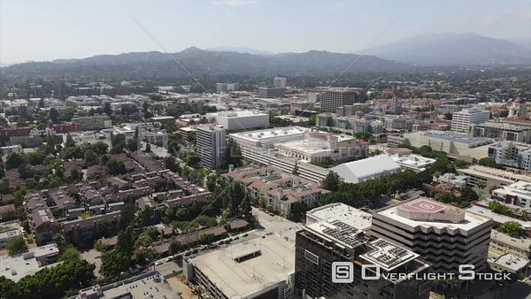 Residential Neighbourhood Pasadena California Drone View