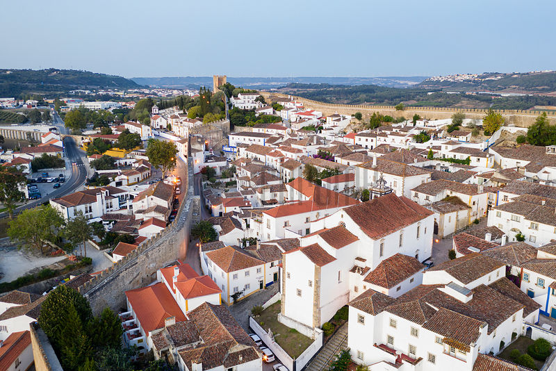 Elevated View of Óbidos at Dawn