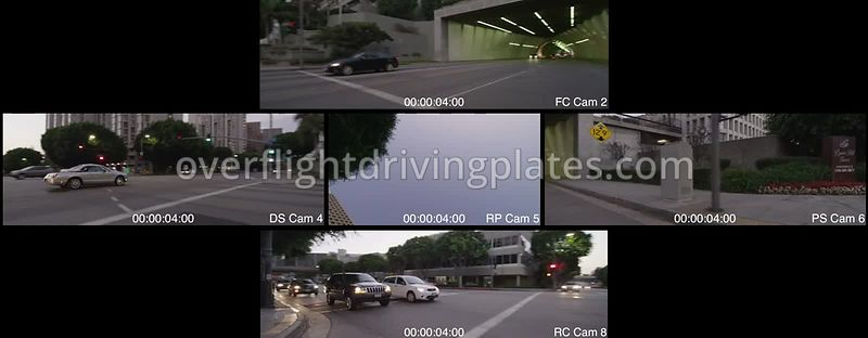 2nd Street Tunnel  Los Angeles California USA - Driving Plate Preview 2012