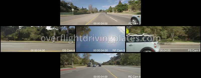 Pacific Palisades Canyon   California USA - Driving Plate Preview 2012