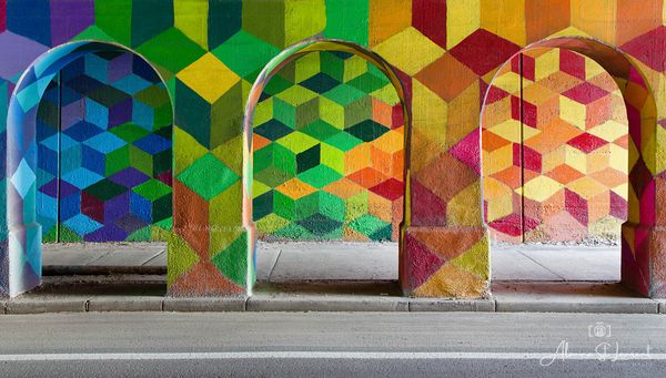 Trumball_Underpass_Colored_Triangles