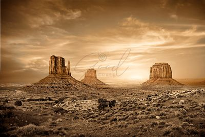 Monument Valley Golden Sunset