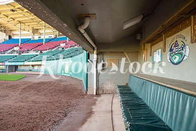 Players Dugout and Stands at McCoy Stadium