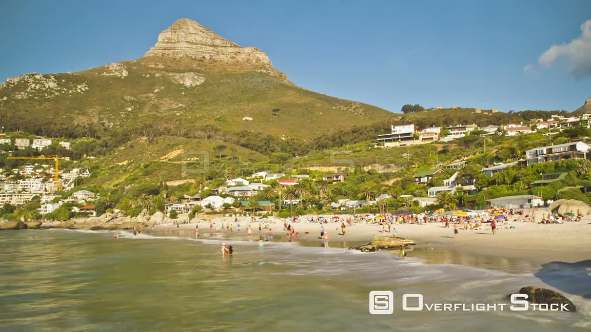 Beach time lapse clip of Clifton Beach near Cape Town in South Africa.