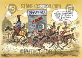 Bank Fat Cat Evades The Posse