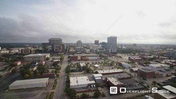 South Carolina Columbia Aerial Ascending cityscape view
