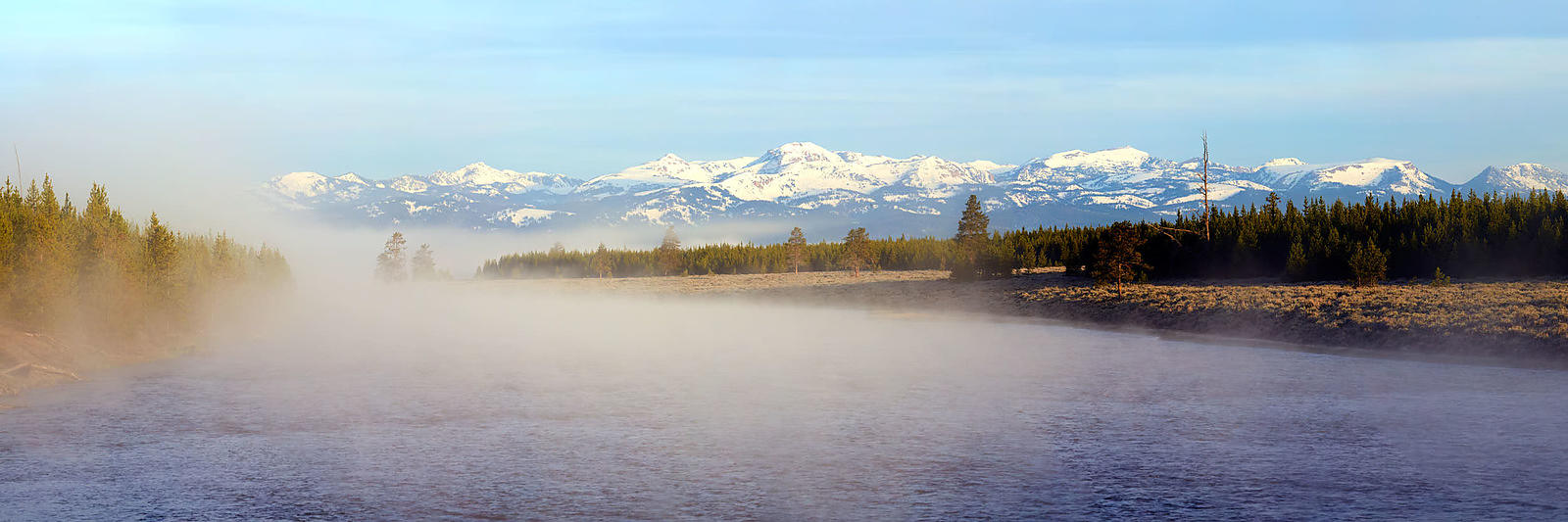Madison River Spring Sunrise Panorama