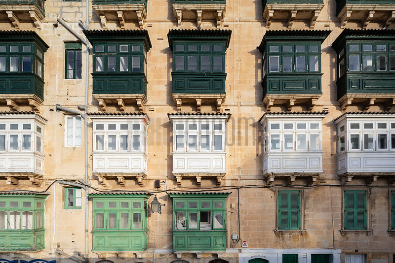 Balcony Windows in Valletta