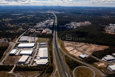 Aerial view of Nerangba in Queensland Australia