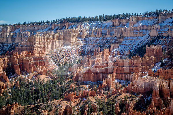 Red Rocks Hoodoos in Sunset Point at Bryce Canyon National Park, Utah
