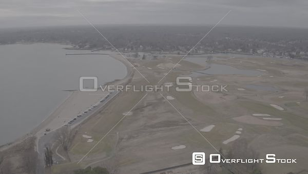 Drone Video Fairfield Country Club to Southport Harbor  Connecticut - V-Log